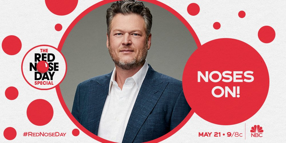 Y'all make sure to catch the #RedNoseDay charity special tonight at 9/8c on @NBC! I'll be performing with the one and only @gwenstefani….