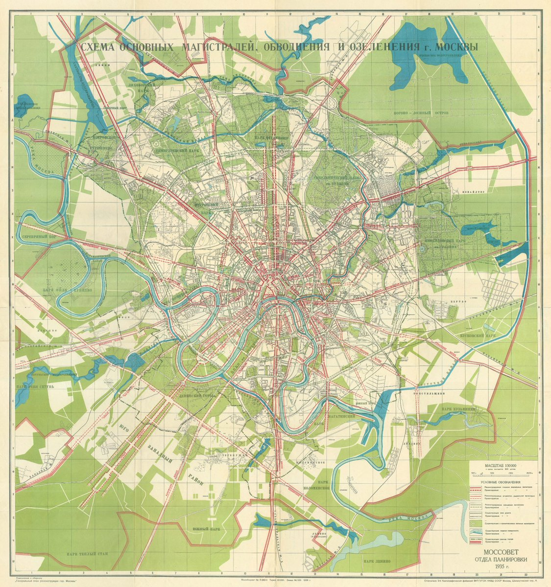 Moscow city planning map 1935 #moscow #map #ussr #москва pic.twitter.com/GqIfqeqYgq