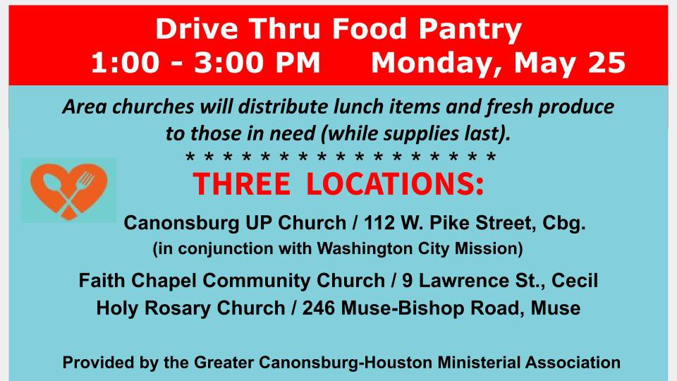 Drive thru food pantry on Monday includes a box of fresh produce! #ThankfulThursday <br>http://pic.twitter.com/67fh6xY2iX