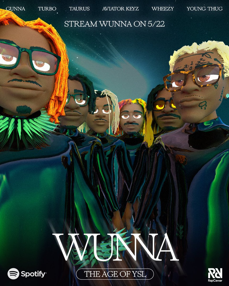 Who's ready for #WUNNA? 👀  Prepare yourselves for Gunna's new album tonight featuring @youngthug, @1TurboTheGreat, @wheezy5th, @AViATORKEYZ, @whoistaurus and more 🐍♊ https://t.co/YD1UFNzReF https://t.co/XvwaV1RRiv