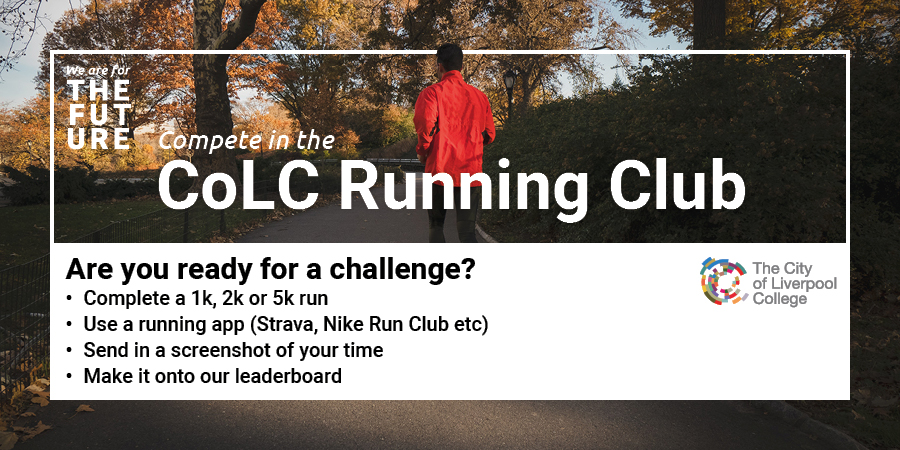 𝘼𝙧𝙚 𝙮𝙤𝙪 𝙧𝙚𝙖𝙙𝙮 𝙛𝙤𝙧 𝙖 𝙘𝙝𝙖𝙡𝙡𝙚𝙣𝙜𝙚? 🏃♂️  Compete against staff and students in our running club and appear on the weekly leaderboard! Good luck!!  #ForTheFuture https://t.co/RRQu3BDy2O