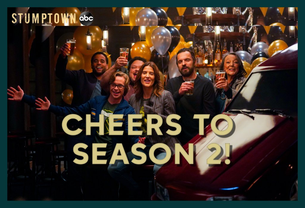 Time to celebrate because #Stumptown is returning for Season 2!! 🍻