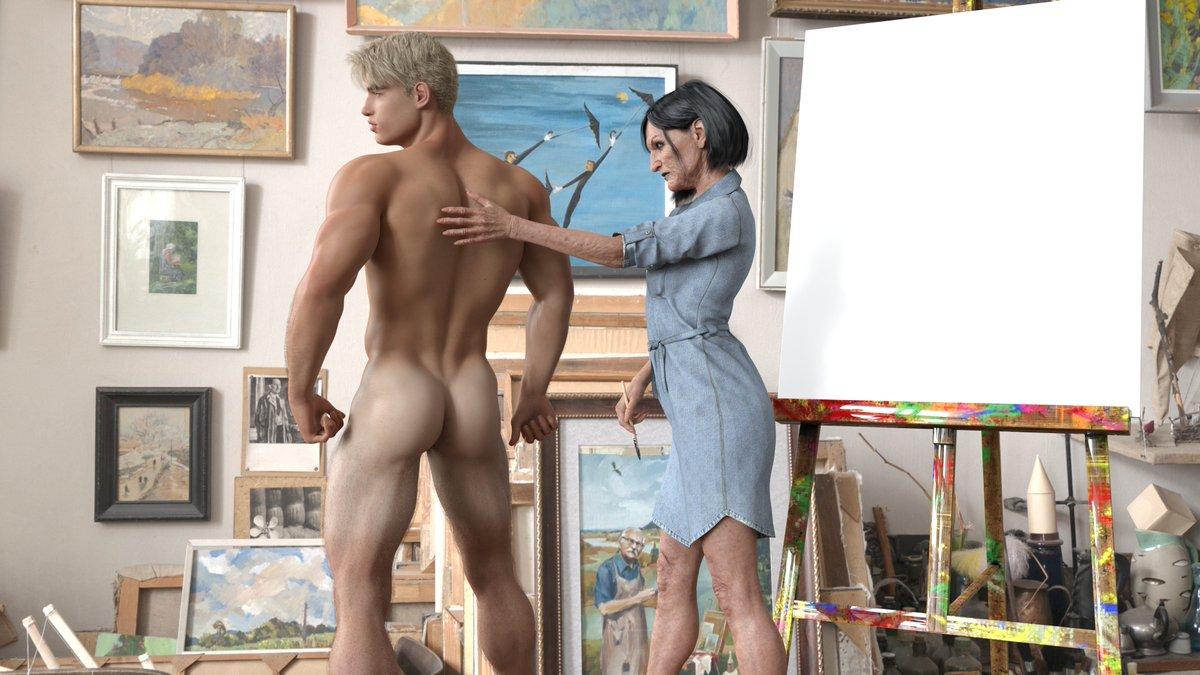 Achillias Painter and model part 3 deviantart.com/achillias-da/a… deviantart.com/achillias-da/g… #male_art