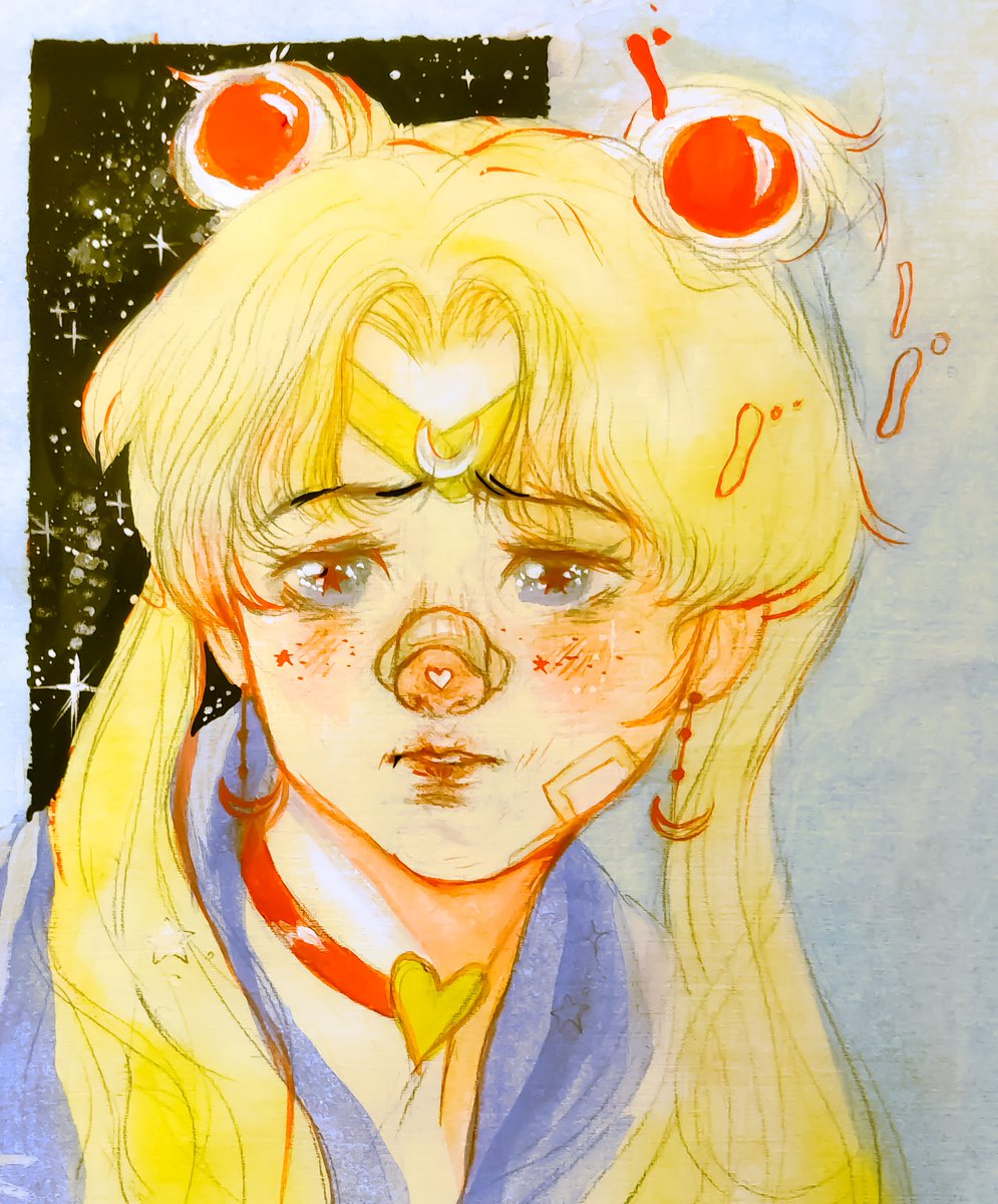 ( ◜‿◝ )♡thought I'd give it a try  #sailormoonredraw  #watercolorpainting pic.twitter.com/Z4sENSKvXs
