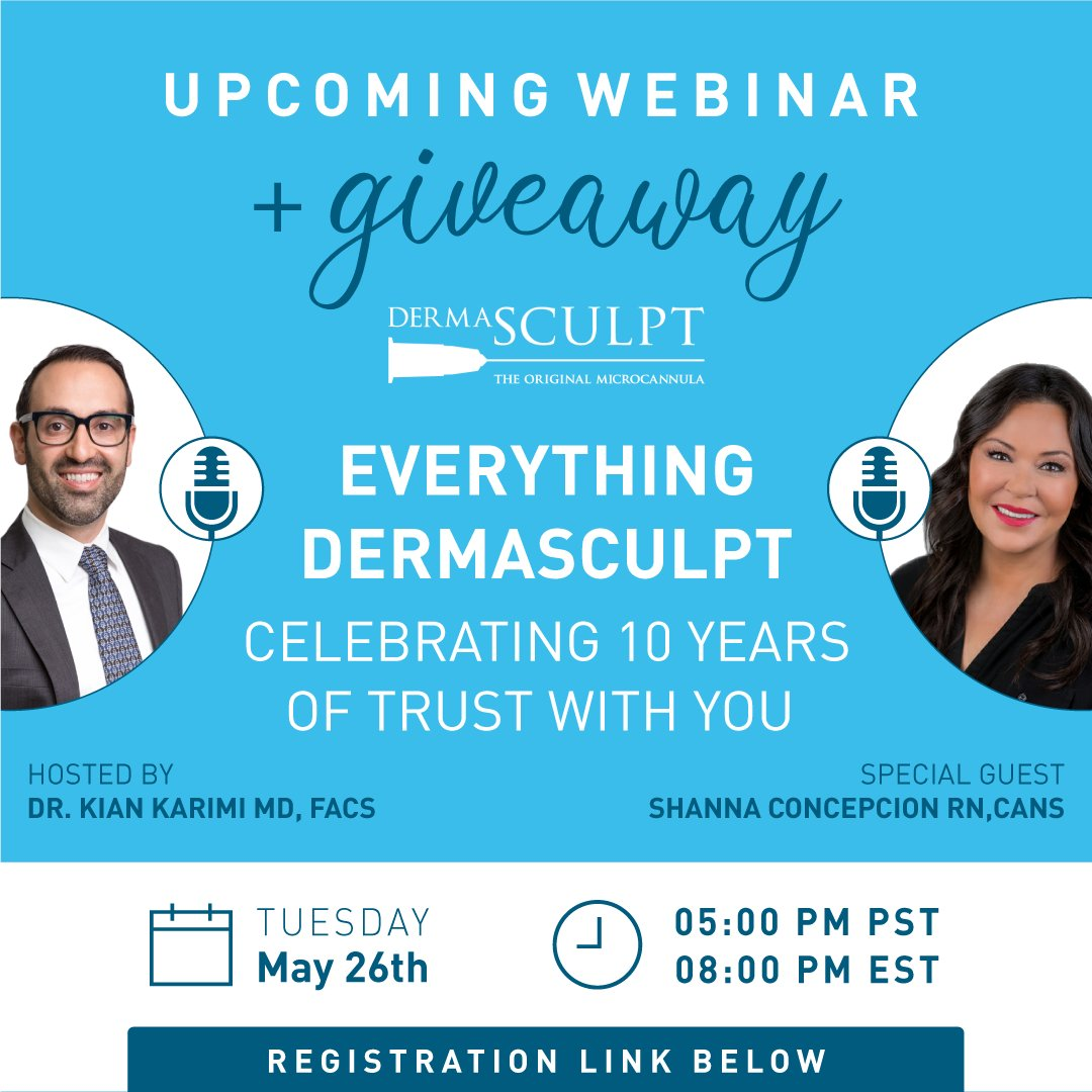 Join @KianKarimiMD and Shanna Concepcion RN, CANS for a great webinar & an exciting giveaway!  📆 Tuesday, May 26th  🕔 5:00 PM PST/ 8:00 PM EST  🎉 GIVEAWAY: 3 FREE boxes - 3 winners. Attend to participate!   🔗 Register now: https://t.co/D7Hc8MTHUc https://t.co/pvEZCLAkXy