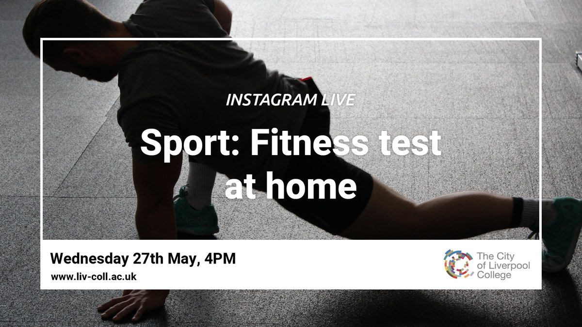 Carl returns to take us through a short fitness test that you can try at home - perfect for keeping active during lockdown. This session will provide you with a fitness score which you can aim to build upon later. 🏋️♂️  Tune in live: https://t.co/jZN9Rx1KWJ  #ForTheFuture #Fitness https://t.co/uaznUIAq2Q