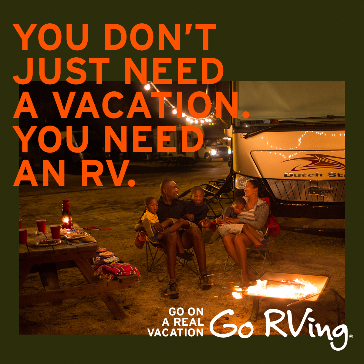Get ready to take the wheel, and go on a #RealVacation. Find an RV dealer on gorving.com