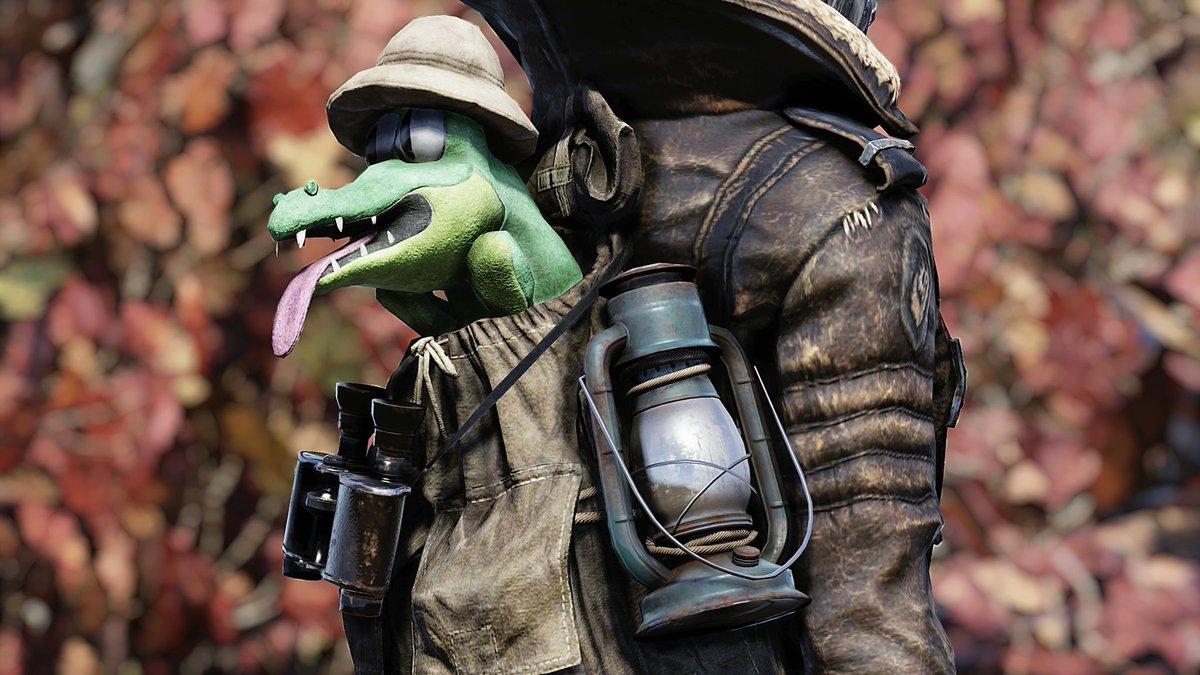 #Fallout76  Safari Crocolossus Backpack  #SafariCrocolossusBackpack<br>http://pic.twitter.com/neHewn9AvW