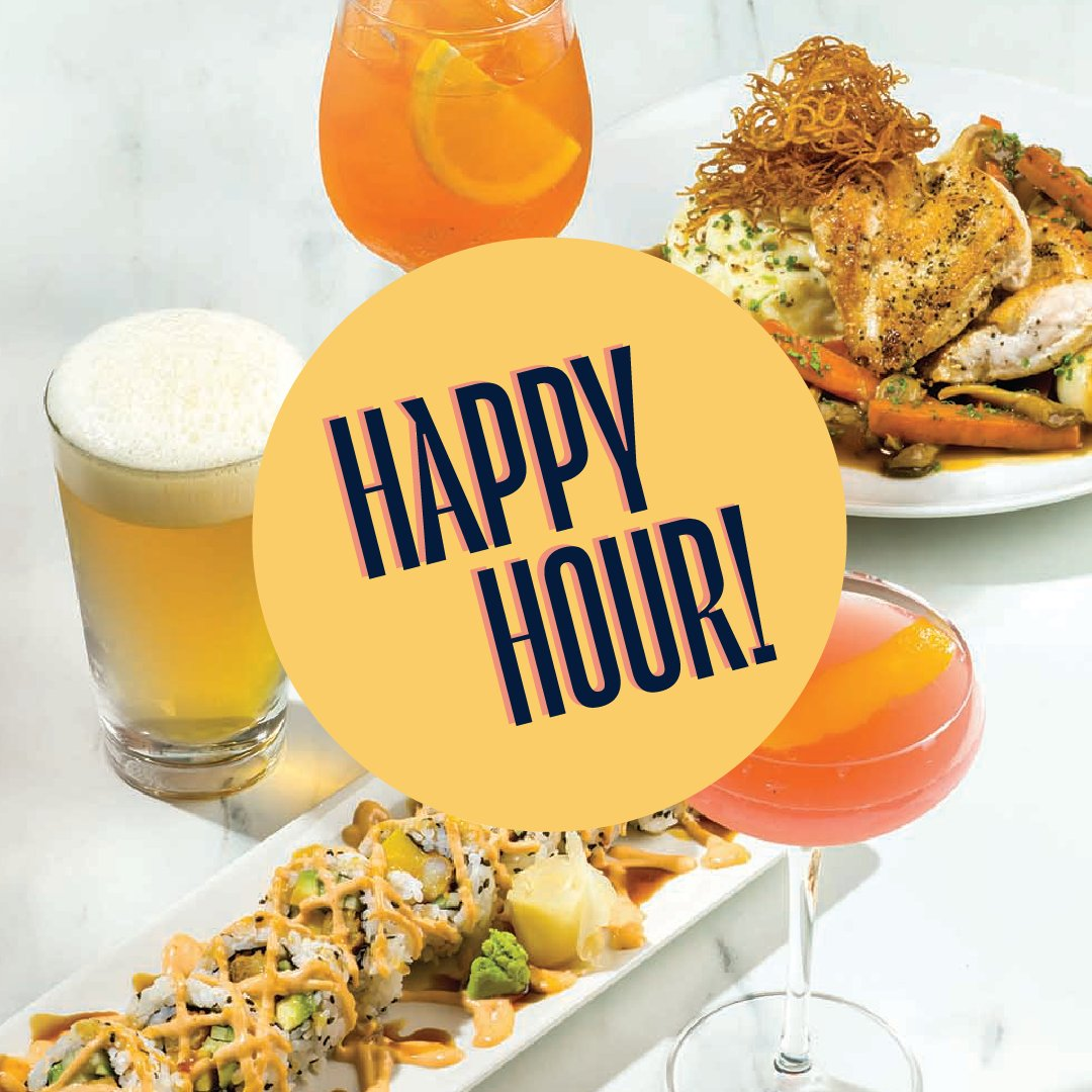 HAPPY HOUR EVERY DAY – Time to get back into our most important routines! #HappyHour is available from 2-5pm + 9pm-close every day for dine-in. We'll see you on the patio!  Seating will be limited. Walk-ins are accepted or you can book your table at https://t.co/x0j2rohBMS. https://t.co/33zPGZdyRu