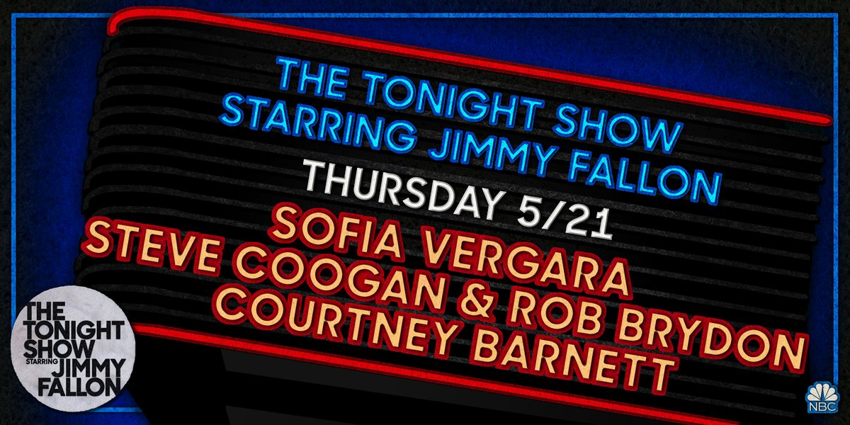 Tonight: @SofiaVergara, Steve Coogan & @RobBrydon, and music from @courtneymelba! Plus, a special musical guest! #FallonAtHome https://t.co/RGuVsviiE9
