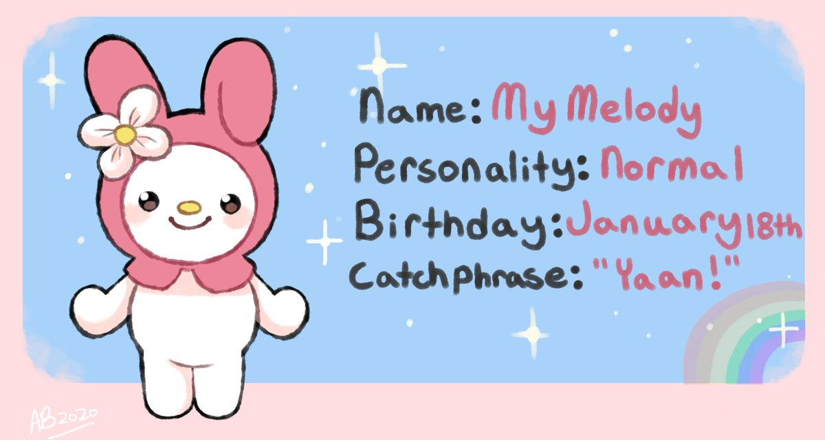 #animalcrossing #mymelody #sanrio  My Melody but she is an Animal Crossing villager. pic.twitter.com/Lo2gIPXaCO