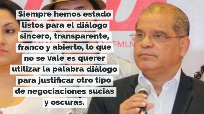 Oscar Ortiz: el FMLN abierto al diálogo