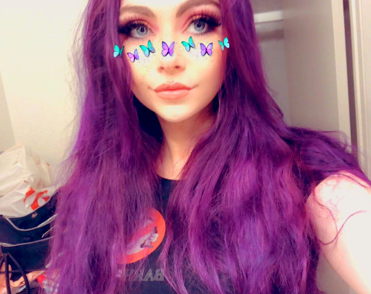 she's purple now ft. Snapchat filters cuz I look like ass