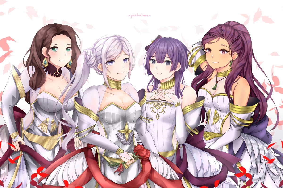 Black Eagles Brides ... in White!  #FE3H #FireEmblemThreeHouses <br>http://pic.twitter.com/2q60xwmR0o
