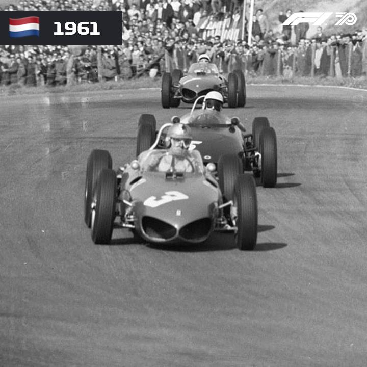 🇳🇱 HOLANDA 1961 Wolfgang von Trips conquistou a sua primeira vitória na Fórmula 1 e se torna o piloto alemão a vencer na categoria.  #F1 #OnThisDay #DutchGP #Netherlands #WolfgangVonTrips #Ferrari https://t.co/5tm1lF0hAt