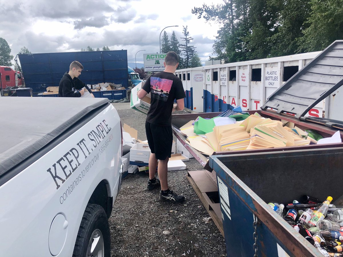 It's #thankfulthursday! We spent the morning 3S'ing (sweep/sort/standardize) and we are so thankful for Nooksack Valley Disposal & Recycling for helping us recycle TONS of old files, folders, and cardboard Boxes. Thanks for providing an essential service for Whatcom County! <br>http://pic.twitter.com/PhgXfjU11F