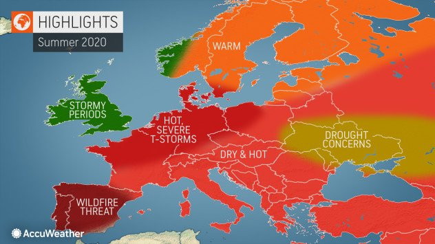 Accuweather On Twitter Accuweather Meteorologists Released Their Annual Europe Summer Forecast This Week Painting A Picture For What Mother Nature Has In Store Across The Continent Https T Co Tsxj7uzppu Https T Co L6ys6ygdgj