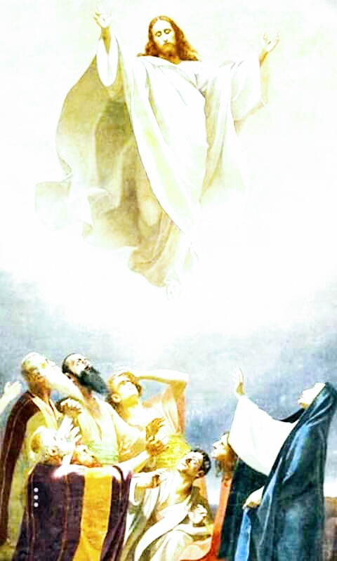 All power is given to me in heaven and in earth. Going therefore, teach ye all nations; baptising them in the name of the Father, and of the Son, and of the Holy Ghost... (Mt28:16-20 #HolyMass #Ascension)~ Douay Rheims Bible #Bible #AscensionDay #Jesus #JesusChrist #Ascension2020 pic.twitter.com/v920OAXrbV