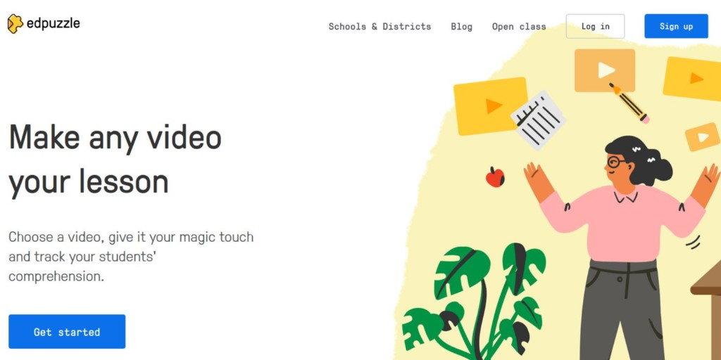 Digital Tool of the Week: @edpuzzle! Students can actively engage with your video content through purposefully placed comprehension checks, supporting Ss understanding. @Catlin_Tucker shares how it works! Check it out at bit.ly/3e2pIOP TOOL: ow.ly/tBhN50zM7dS