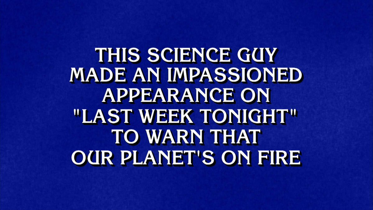 A clue! A clue! I was a clue on @Jeopardy this week. How cool.