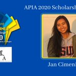 Image for the Tweet beginning: APIA Scholars has awarded its