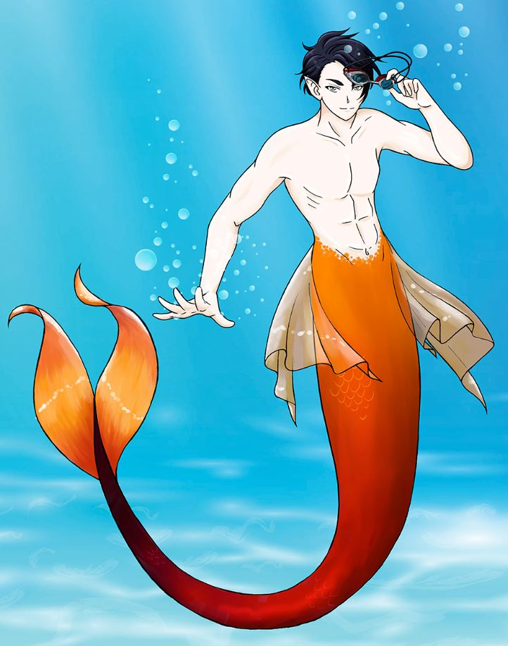 """Meet Matthew Brooks. He's an elite """"human"""" swimmer by day but ditches the goggles once he's got a tail.   Follow his adventures in Underneath, a Merfolk Tale.    #mermay2020 #mermay #merfolk #mermaid #mermen"""