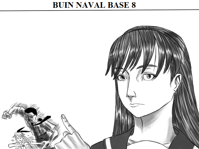 Buin Naval Base 8: Ooi called Admirala Miyakata to handle Shimakaze who doesn't want to go to the docks (bath) (Admiral came prepared and called commander Shimazu to handle it.) #艦これ版深夜の真剣お絵描き60分一本勝負 #艦これ版真剣お絵描き60分一本勝負_20200521 https://t.co/JDvgwrn0LR
