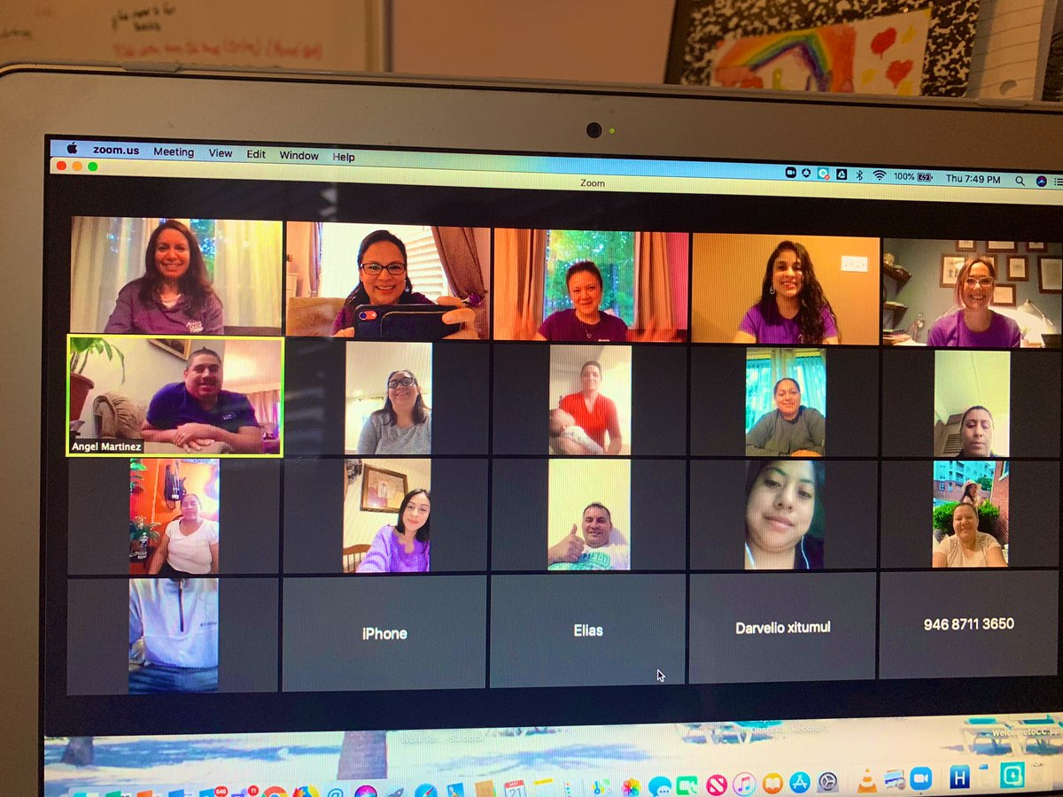 Our first virtual Cafe con Leche parent/family meeting! It was so wonderful seeing the families of our EL students. We applauded the parents of the seniors, and they each gave advice to the other parents. <a target='_blank' href='http://search.twitter.com/search?q=JuntosPodemos'><a target='_blank' href='https://twitter.com/hashtag/JuntosPodemos?src=hash'>#JuntosPodemos</a></a> <a target='_blank' href='https://t.co/RxqFWwJNDl'>https://t.co/RxqFWwJNDl</a>