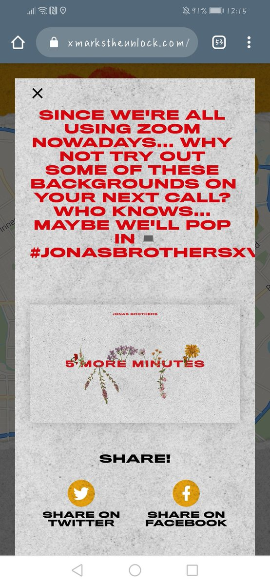 Ahhh, look what I unlocked in Christchurch / New Zealand  This is so cool @jonasbrothers  now I just have to find some people I can call with on zoom   #JONASBROTHERSXV<br>http://pic.twitter.com/HVFw9fYLN4