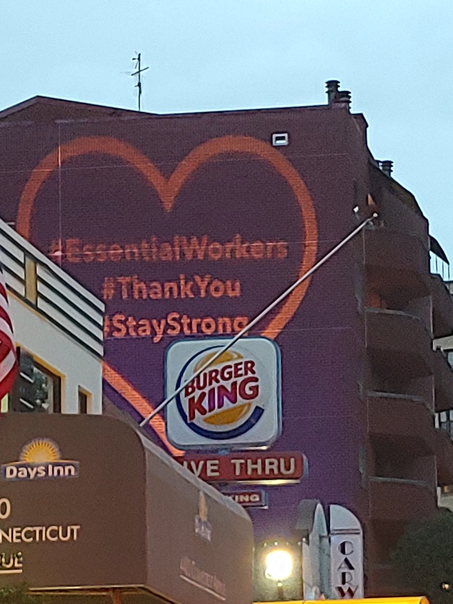Glad to see this show of support & appreciation in #DC for #Workers ! #coronavirus #Covid_19pic.twitter.com/9rE1zPCz5P