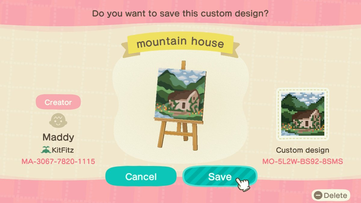 Design codes for the paintings #AnimalCrossing  #ACNHDesign AnimalCrossingDesigns <br>http://pic.twitter.com/Ov822pK2gf