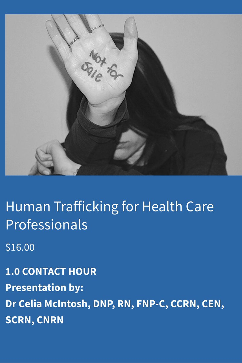 Looking for #ceu credit check out this talk about #humantrafficking https://bhapro.com/continuing-education …pic.twitter.com/mPl3LURL50