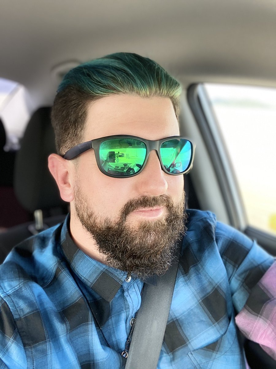 So... I did a thing!  - #Haircut #Color #Turquoise #Merman #ManWithBeard #BooYa @ Landis Salon Marmaladepic.twitter.com/p5VCkbi7mD