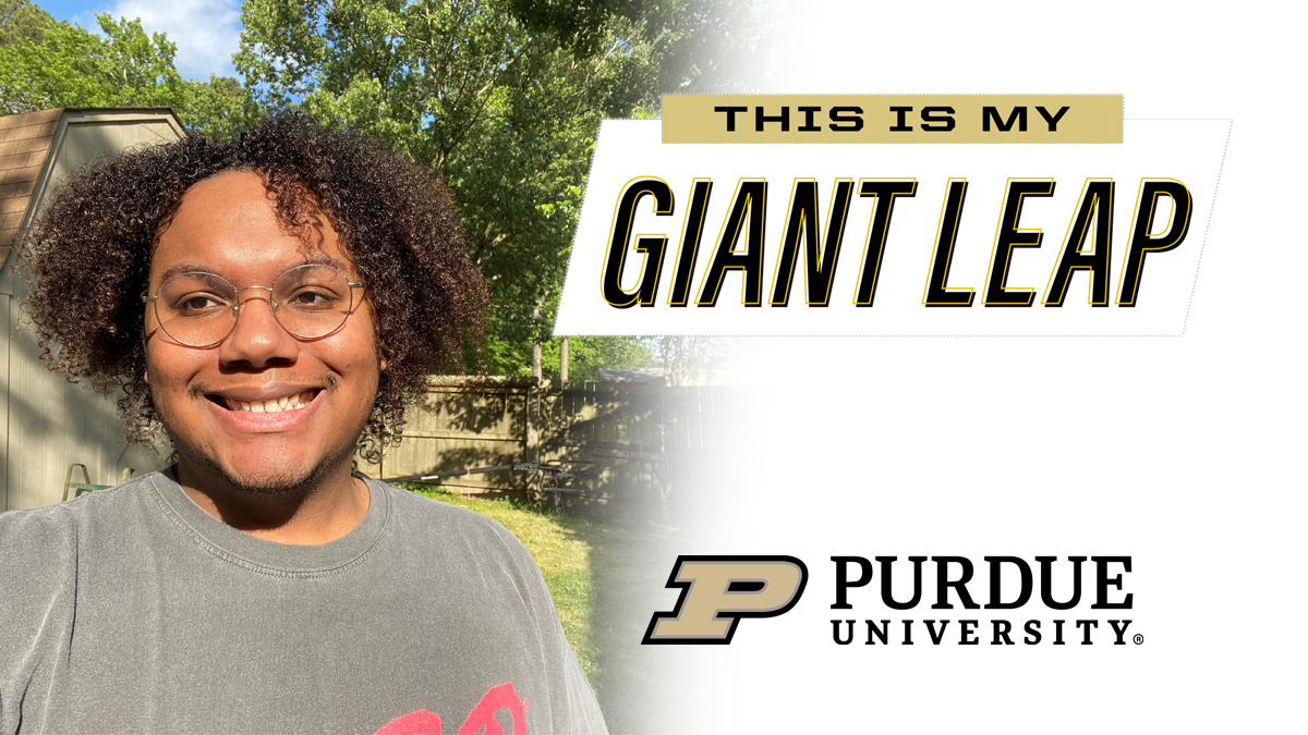 #TheNextGiantLeap for 2020 senior D'Angelo Peters is a Masters in Science Education with the goal of becoming a high school Chemistry teacher. Congrats! #PurdueWeDidIt #LifeatPurdue #PurdueUniversity