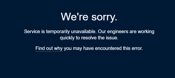 I've never seen this before + can't even bring up my blog pages while logged out,, so is #tumblr  just down or am I outright terminated? pic.twitter.com/QBzgc3PU3S