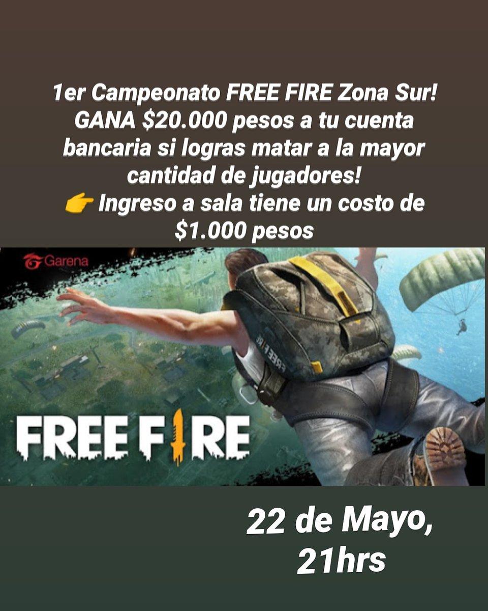 A todos los amantes de Free Fire, mañana tenemos el 1er Campeonato con dinero real a repartir al ganador! Animate y juega con nosotros!!! #freefire #freefirechile #freefiregamers #zonasur #freefirezonasurpic.twitter.com/j0OyLEywuh