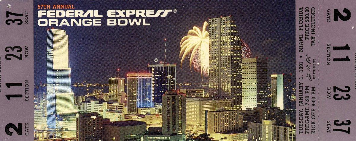 Game 🔛 Watch now on @NBCSports! #GoBuffs | 1991 Orange Bowl 🍊🏆
