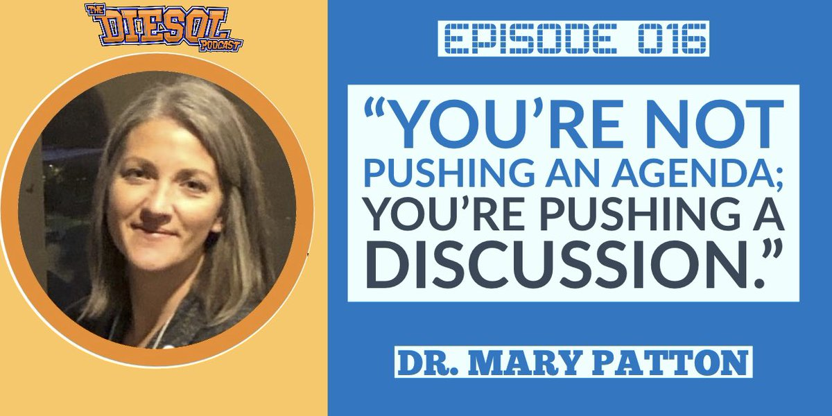 """When discussing books that bring difficult issues to light, remember, """"you're not pushing an agenda; you're pushing a discussion"""" - @DrMPattonESOL  https://t.co/jhzWgiDbuj #crt #esol #diversity #thehateugive #tesol #eltchat #ellbookclub #culturallyresponsive https://t.co/AsV6sypih0"""