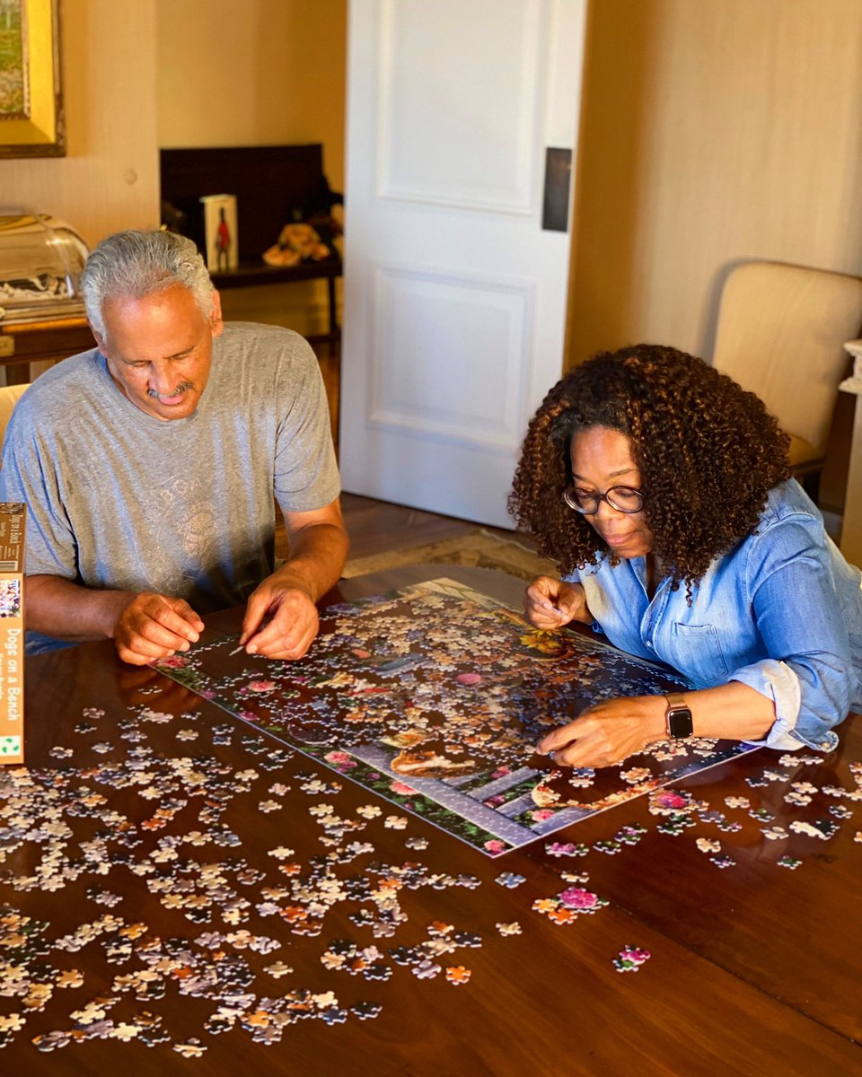 Never in a million years did I see me and @OfficialStedman doing a puzzle on a weekday night. But after two months in quarantine, we've had to figure out different ways to spend time together. That's why this week's theme for #YourLifeInFocus will be CONNECT.