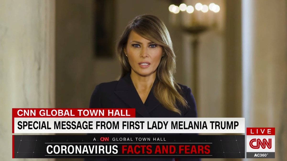 "First lady Melania Trump thanks students for helping to keep the US safe and acknowledging changes they've had to make due to coronavirus: ""Please know that the President and I are with you during these challenging times, and we continue to do everything we can do to support you"