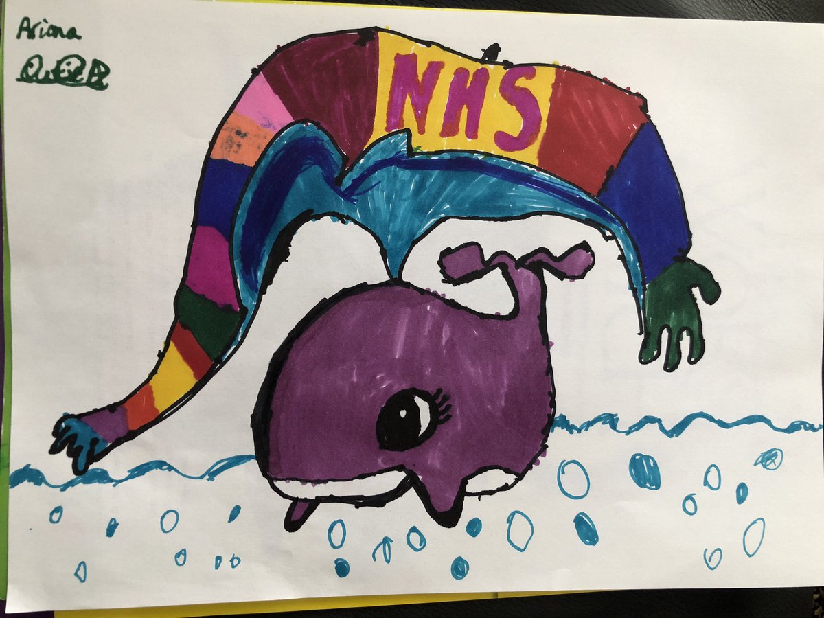 #ArtWorldRecords my 7 year old daughters #drawwithrob whale 😊 @RobBiddulph
