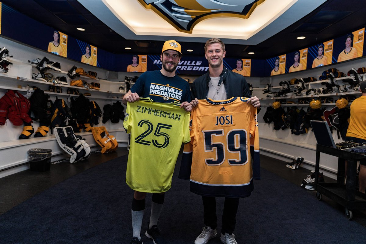 My two favorite defenseman @PredsNHL @NashvilleSC | #Smashville #EveryoneN <br>http://pic.twitter.com/wjhoy1NzK7