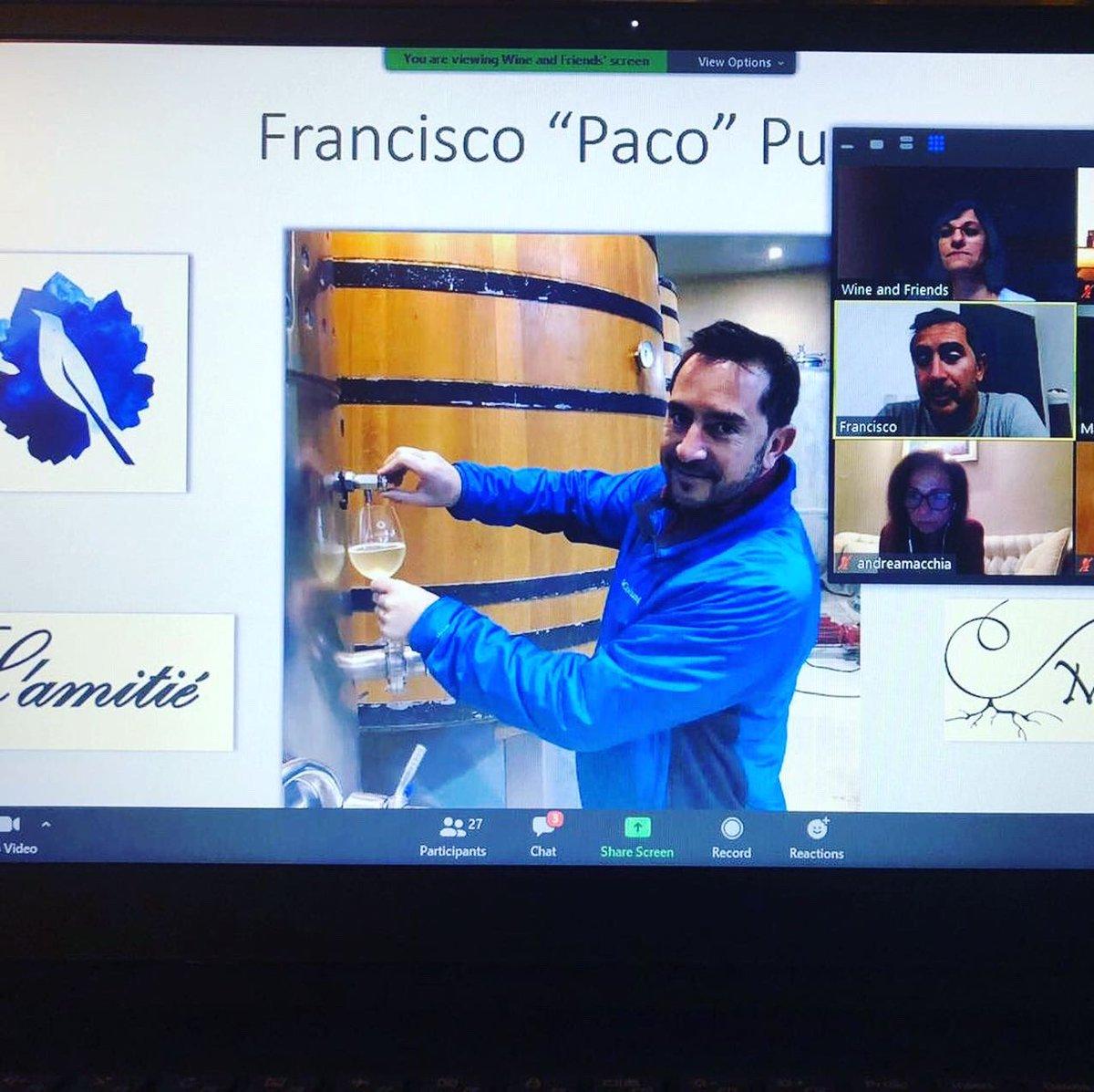 Felices con la charla #virtual  que tuvimos con @PacoPuga1 y @degege en #cuarentena ! Una vez más quedo demostrado q  #elvinoune   presentes @tordoswines @mugroncafayate @porvenirwines #lamitie y el #vallecalchaqui #winelover #wineandfriends pic.twitter.com/rSOUoy5bVD