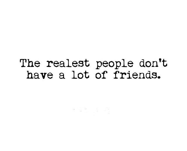 The realest people....