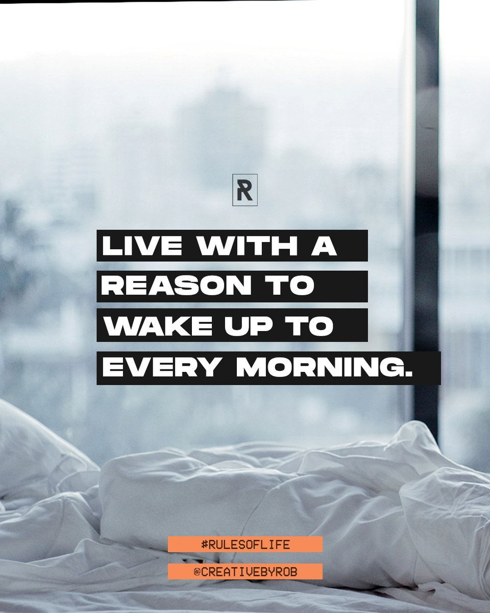 My mission in life is to unleash significance in everyone through the power of knowledge and the joy of creativity. That's me but what about you? What's your reason to wake up? Don't just exist to exist – really live your life with a clear purpose. Find your reason to #wakeup. 💤 https://t.co/Y6zLQ2o9Sq