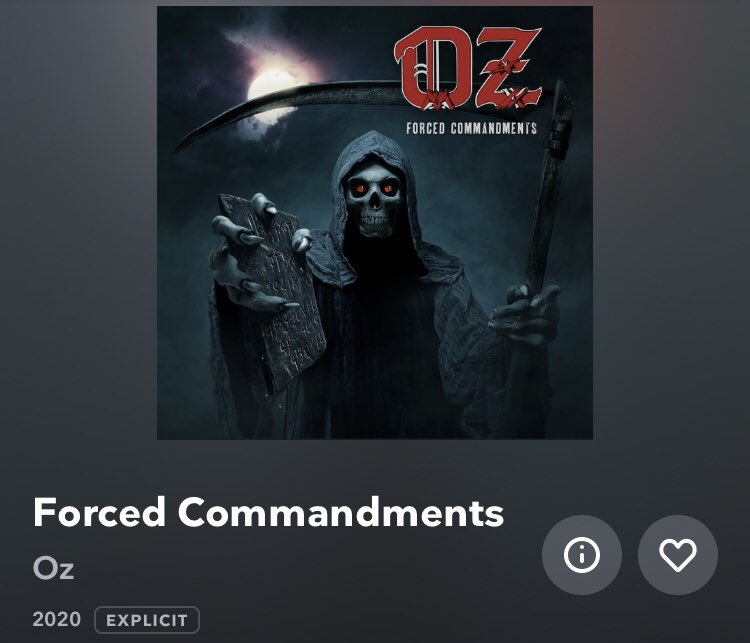 #NowPlaying Oz - Forced Commandments , via #Tidal , #NewMusicFriday <br>http://pic.twitter.com/7R2c5v63AY