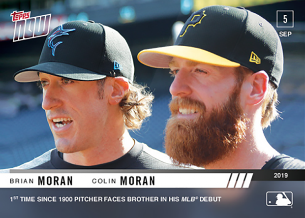 New @SABRGames story: Last September, @Marlins' Brian Moran struck out his brother, @Pirates infielder Colin, in his @MLB debut: https://t.co/hsbrSTCyda #SABR @ArVaFan55 https://t.co/ZIFxfxDwer