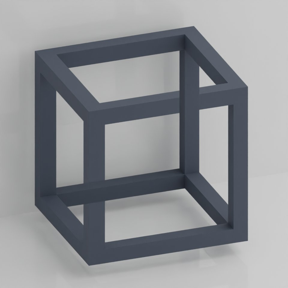 Got bored, tried to model the impossible cube  #gotbored #tried #modelling pic.twitter.com/1yg3tqeBhD