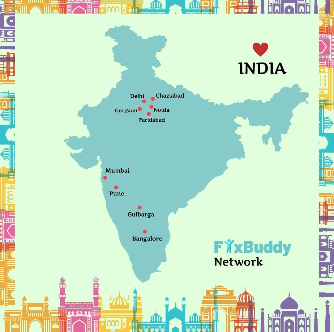 Fyxbuddy has it's network spread across several cities. We work deligently towards providing the best of the services at your doorstep. Our priority lies in your safety. Avail our services now! Visit the website http://Www.fyxbuddy.com #fridaymorning  #services  #Pune pic.twitter.com/GNVVG9gOSg