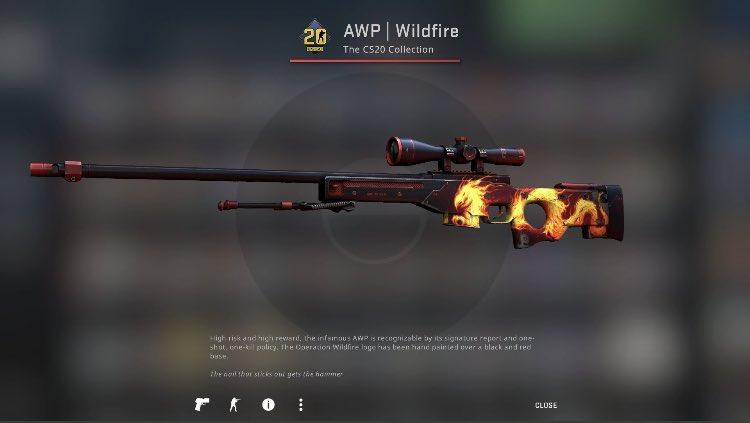 Factory New AWP | Wildfire  ✅ Retweet & Follow us https://t.co/t4PAxZ8r5T